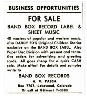06 BAND BOX - FOR SALE ed