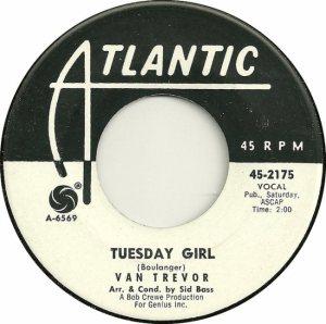 ATLANTIC 2175 - TREVOR VAN - DJ 1963 B