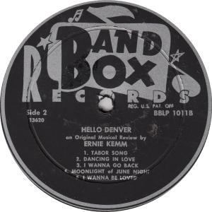 Band Box 1011 - Kemm, Ernie - Hello Denver 2