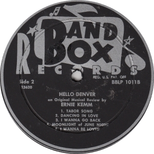 Band Box 1011 - Kemm, Ernie - Hello Denver 2