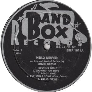 Band Box 1011 - Kemm, Ernie - Hello Denver