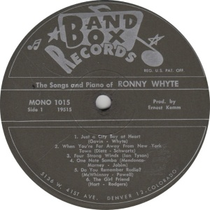 BAND BOX 1015 - WHYTE RONNY A