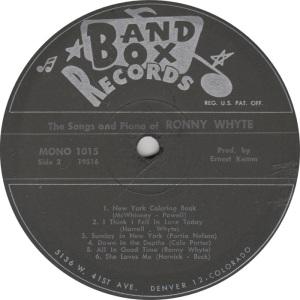 BAND BOX 1015 - WHYTE RONNY B