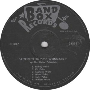 Band Box 1017 - Alpine Polkadots - LP Side 1