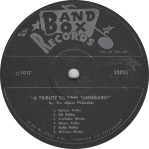 Band Box 1017 - Alpine Polkadots - LP Side 1