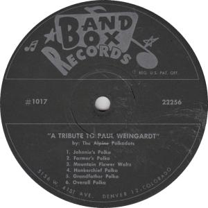 Band Box 1017 - Alpine Polkadots - LP Side 2