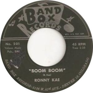 Band Box 201 - Kae, Ronny - Boom Boom