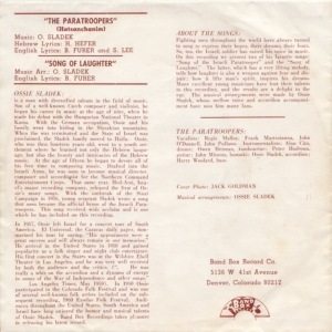 Band Box 204 - Sladek, Ossie & Paratroopers PS - Song of Laughter