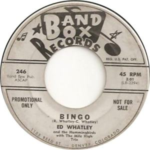 Band Box 246 - Whatley, Ed & Hummingbirds - Bingo