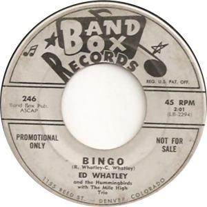 Band Box 246 - Whatley, Ed & Hummingbirds - Bingo