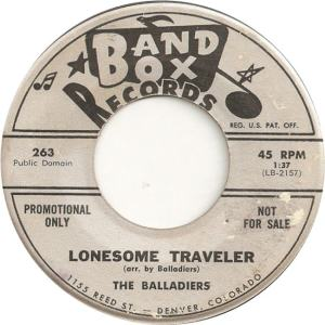 Band Box 263 - Balladiers - Lonesome Traveler