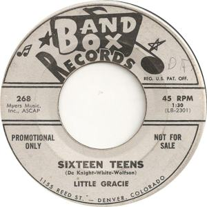 Band Box 268 - Little Gracie - Sixteen Teens DJ