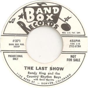 Band Box 271 - King, Randy & Country Rhythm Boys - The Last Show
