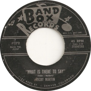 Band Box 272 - Martin, Vicky - What is There to Day black