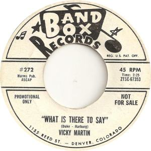 Band Box 272 - Martin, Vicky - What is There to Day