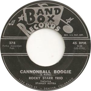 Band Box 278 - Starr Trio, Rocky - Cannonball Boogie