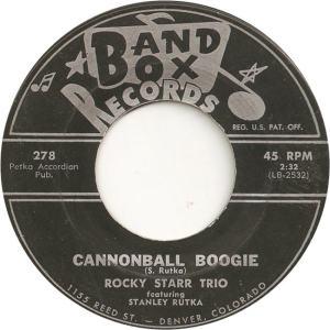 Band Box 278 - Starr Trio, Rocky - Cannonball Boogie