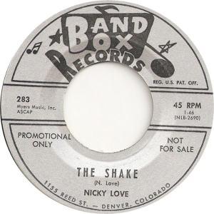 Band Box 283 - Love, Nicky - The Shake DJ