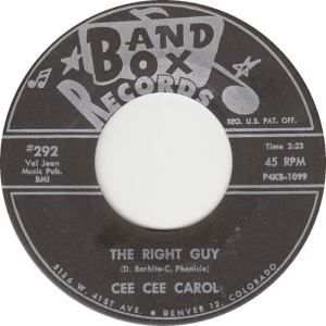 Band Box 292 BLK - Carol, Cee Cee - Right Guy