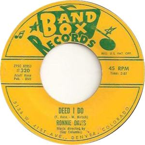 Band Box 320 - Davis, Ronnie - Deed I Do