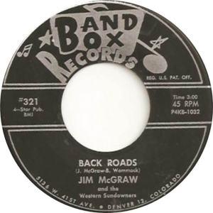 Band Box 321 - McGraw, Jim & Western Sundowners - Back Roads