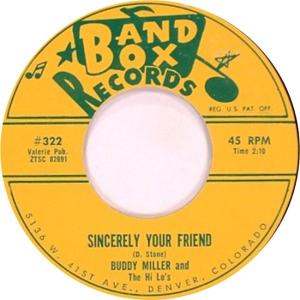 Band Box 322 - Miller, Buddy & Hi Lo's - Sincerely Your Friend