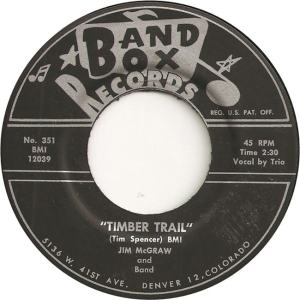 Band Box 351 - McGraw, Jim & Band - Timber Trail
