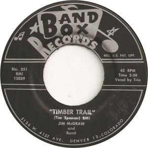 Band Box 351 - McGraw, Jim & Band - Timber Trail