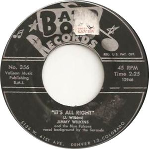 Band Box 356 - Wilkins, Jimmy & Blue Falcons - It's All Right