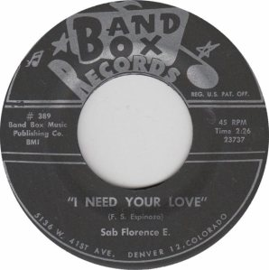 BAND BOX 389 -I NEED YOUR LOVE