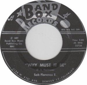 BAND BOX 389 - WHY MUST IT BE