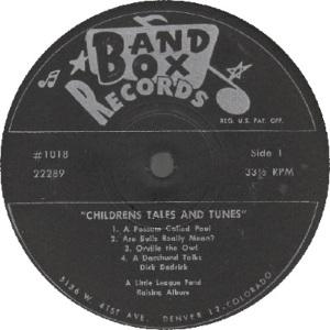 Band Box LP 1018 - Dedrick, Dick - Children's Tales 1