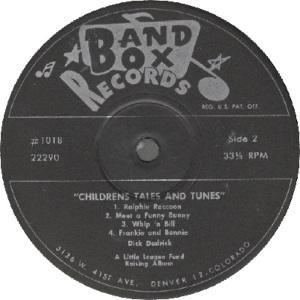 Band Box LP 1018 - Dedrick, Dick - Children's Tales 2