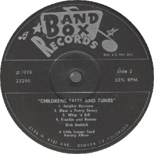 Band Box LP 1018 - Dedrick, Dick - Children's Tales 2