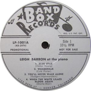 Barron - Band Box LPL 1001 - Leigh Barron at Piano SD 1 (1)