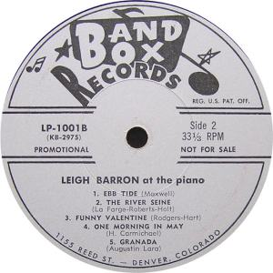 Barron - Band Box LPL 1001 - Leigh Barron at Piano SD 1 (2)