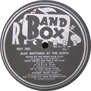 Blue Rhythms - Band Box LPL 1004 - Bue Rhythms at Koko SD1 (1)
