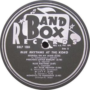 Blue Rhythms - Band Box LPL 1004 - Bue Rhythms at Koko SD1 (2)