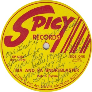 BOB AND SYLVIA - SPICY 5002