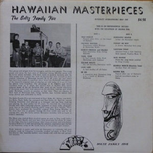 Boltz - Band Box LP 1007 F - Blotz Family Five - Hawaiian Masterpieces (4)
