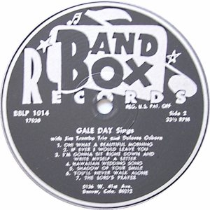 DAY AND TRUMBO TRIO - BAND BOX 1014 - GALE DAY SINGS 2