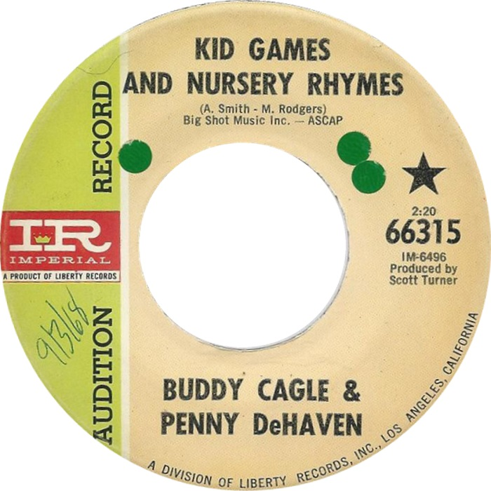 Buddy Cagle and Penny DeHaven - Kid Games And Nursery Rhymes