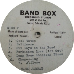 Hank Jarman Side 2 Record 3