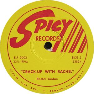 Jordan, Rachel - Spicy 23834 LP1 - Jordan, Rachel - Crack Up with Rachel (2)