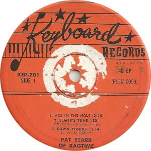 Keyboard 701 EP - Starr, Pat - Ace in the Hole