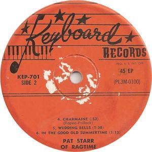 Keyboard 701 EP - Starr, Pat - Charmaine