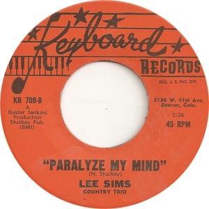 Keyboard 709 - Sims, Lee - Paralyze My Mind