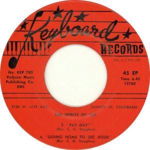 Keyboard EP 702 - Spirits of Joy - Side 2