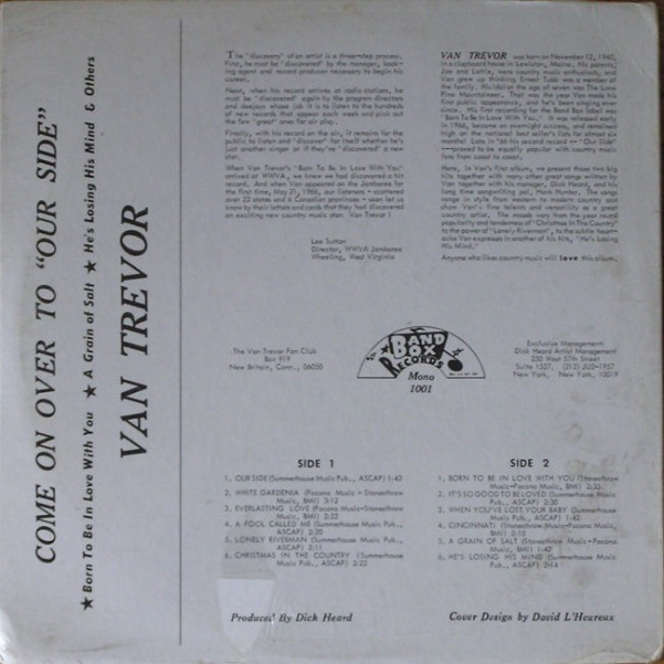 Trevor - Band Box LP 1001 - Van Trevor - Come On Over to Our Side F (2)