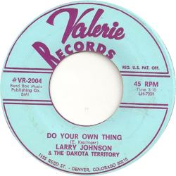 Valerie 2004 - Johnson, Larry & Dakota Territory - Do Your Own Thing